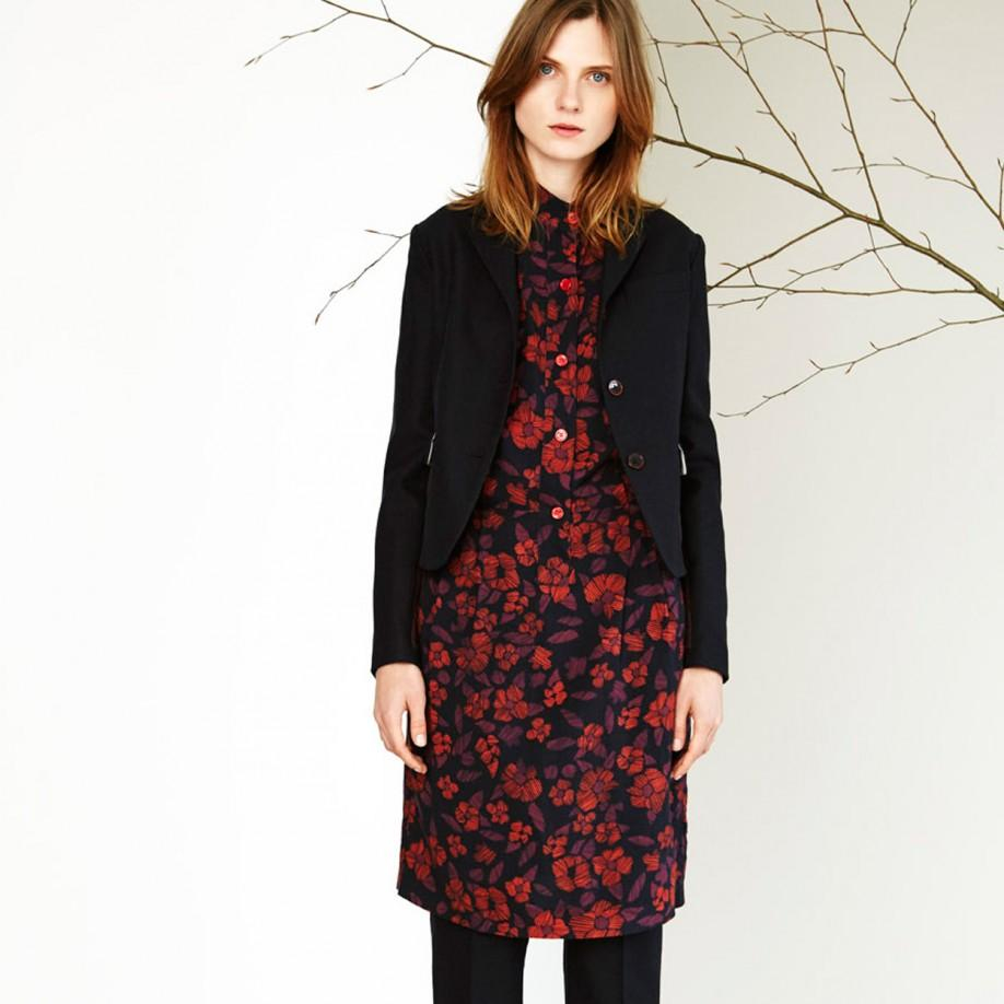 Paul Smith Quilted Panel Wool Blazer In Blue Lyst