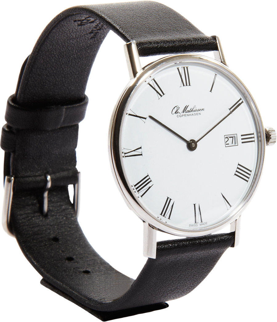 Lyst - Ole Mathiesen White Dial Roman Numeral in Black for Men