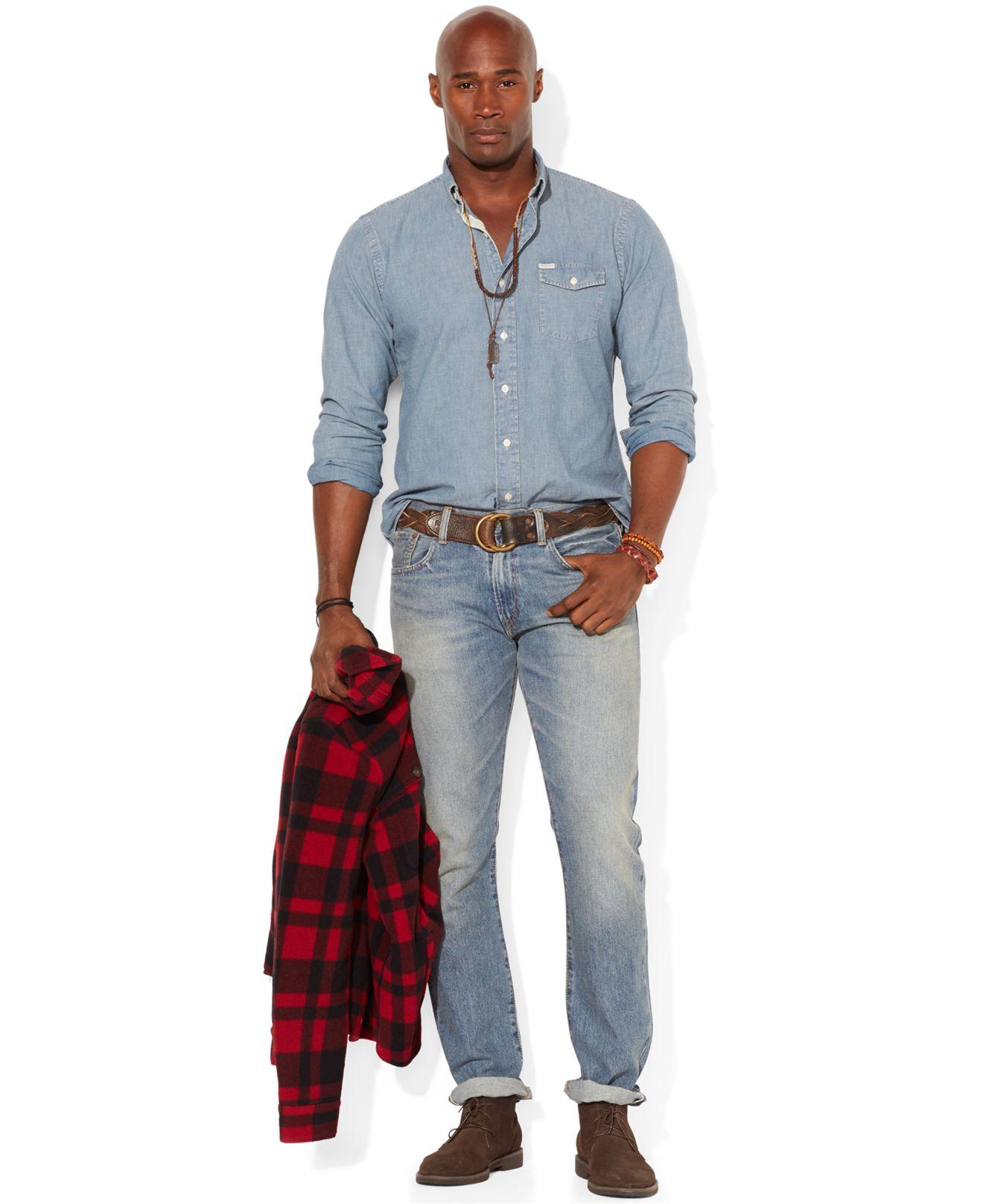 767e2906b2 Big Tall Mens Denim Shirts