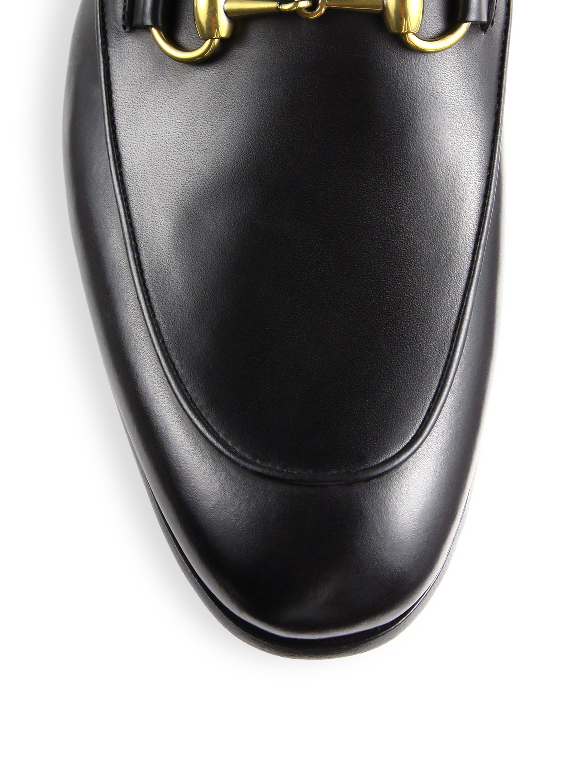 45cc83ca263e Lyst - Gucci Jordaan Leather Horsebit Loafer in Black for Men