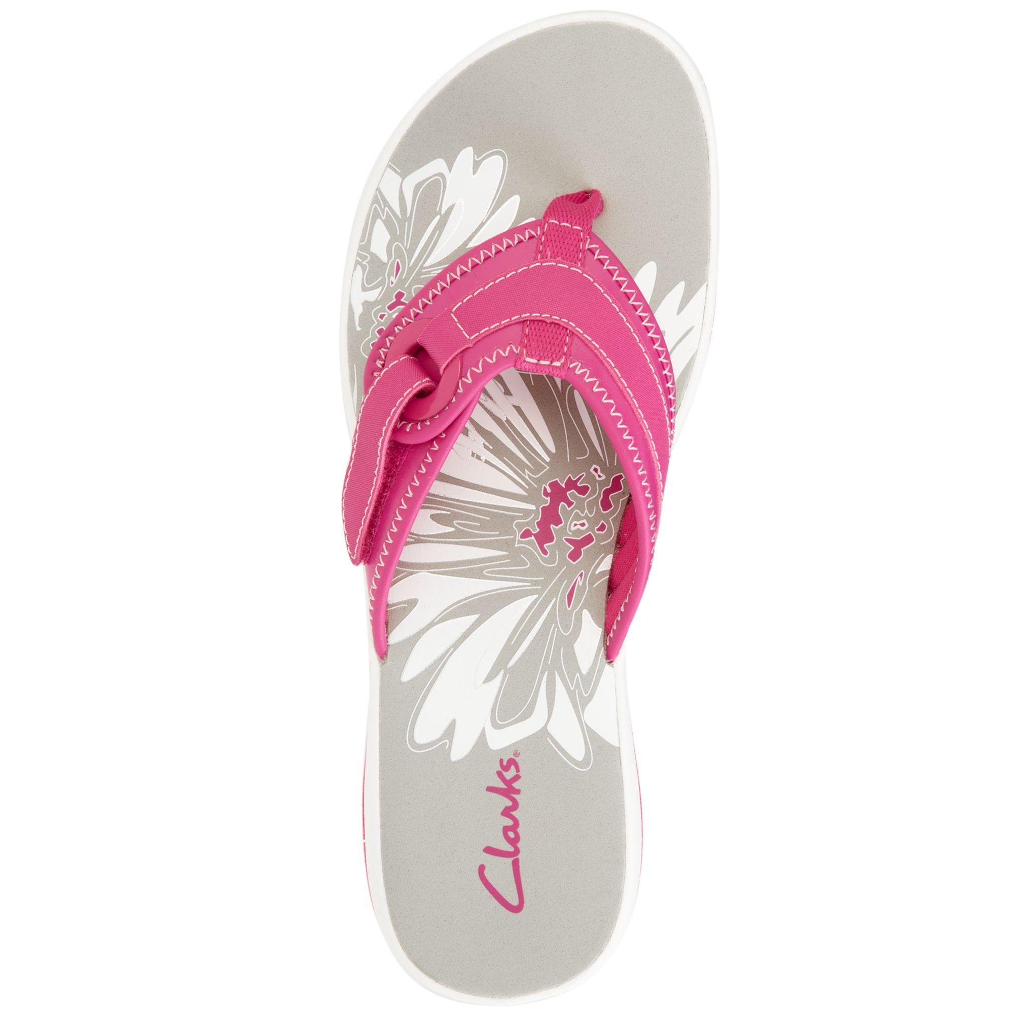 2dfeab87f860 Lyst - Clarks Womens Shoes Breeze Mila Flip Flops in Pink