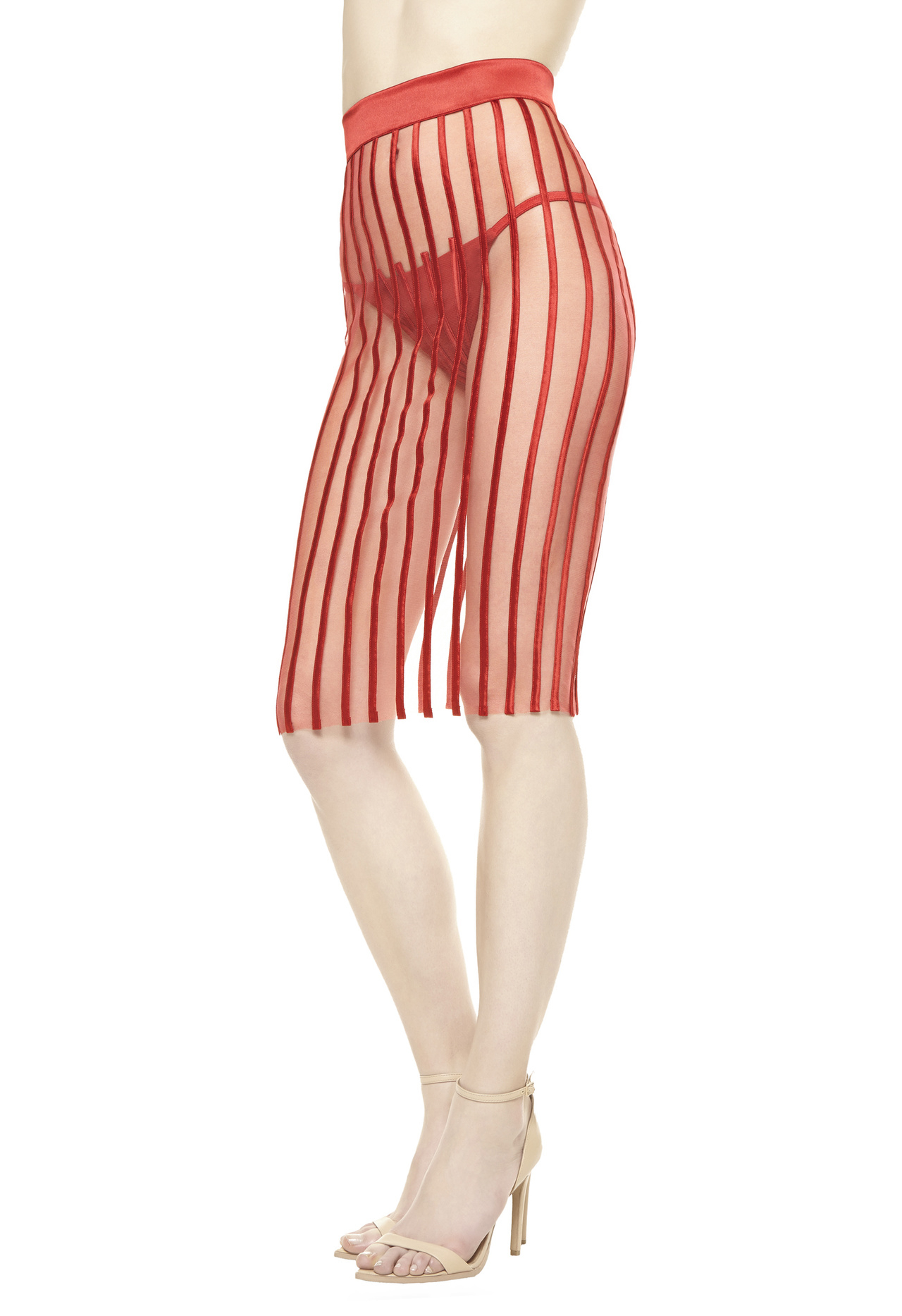 La perla graphique couture cover up in red lyst for Canopy couture