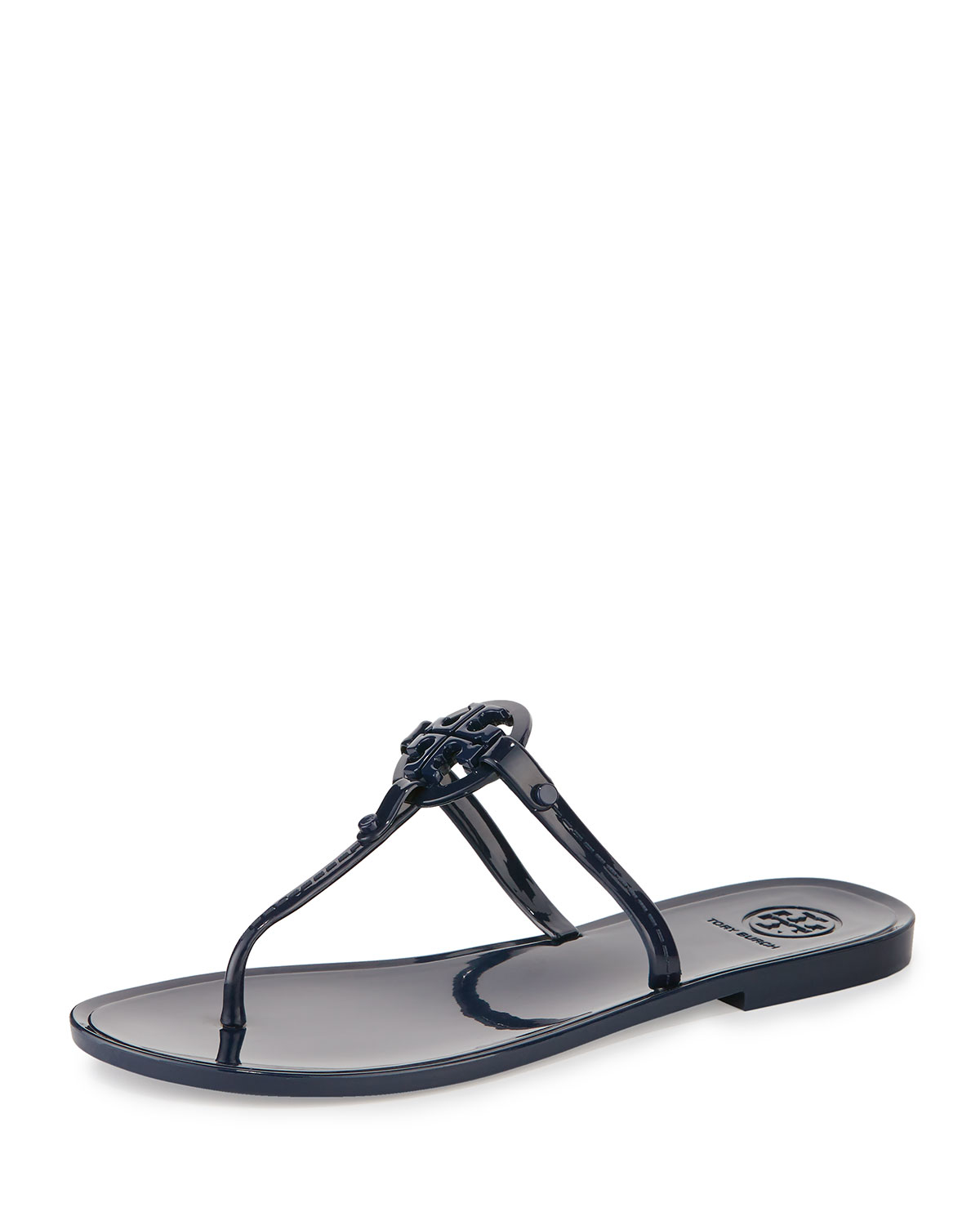 f7cad50435170a Lyst - Tory Burch Colori Logo-Detail Jelly Sandals in Blue