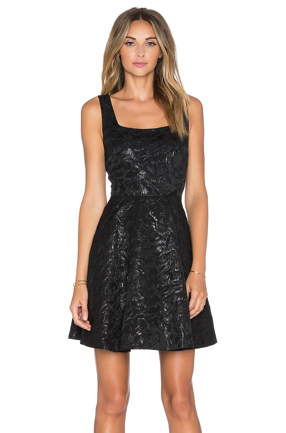 Diane von furstenberg Minnie Jacquard Dress in Black