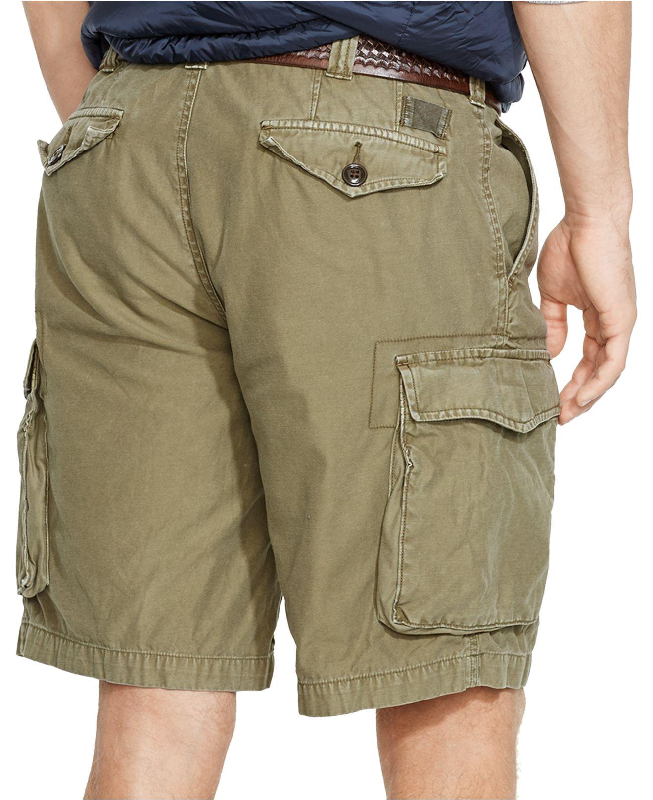 a3b0f00aa7 ... aliexpress lyst polo ralph lauren classic fit commander cargo shorts in  green d0186 08698