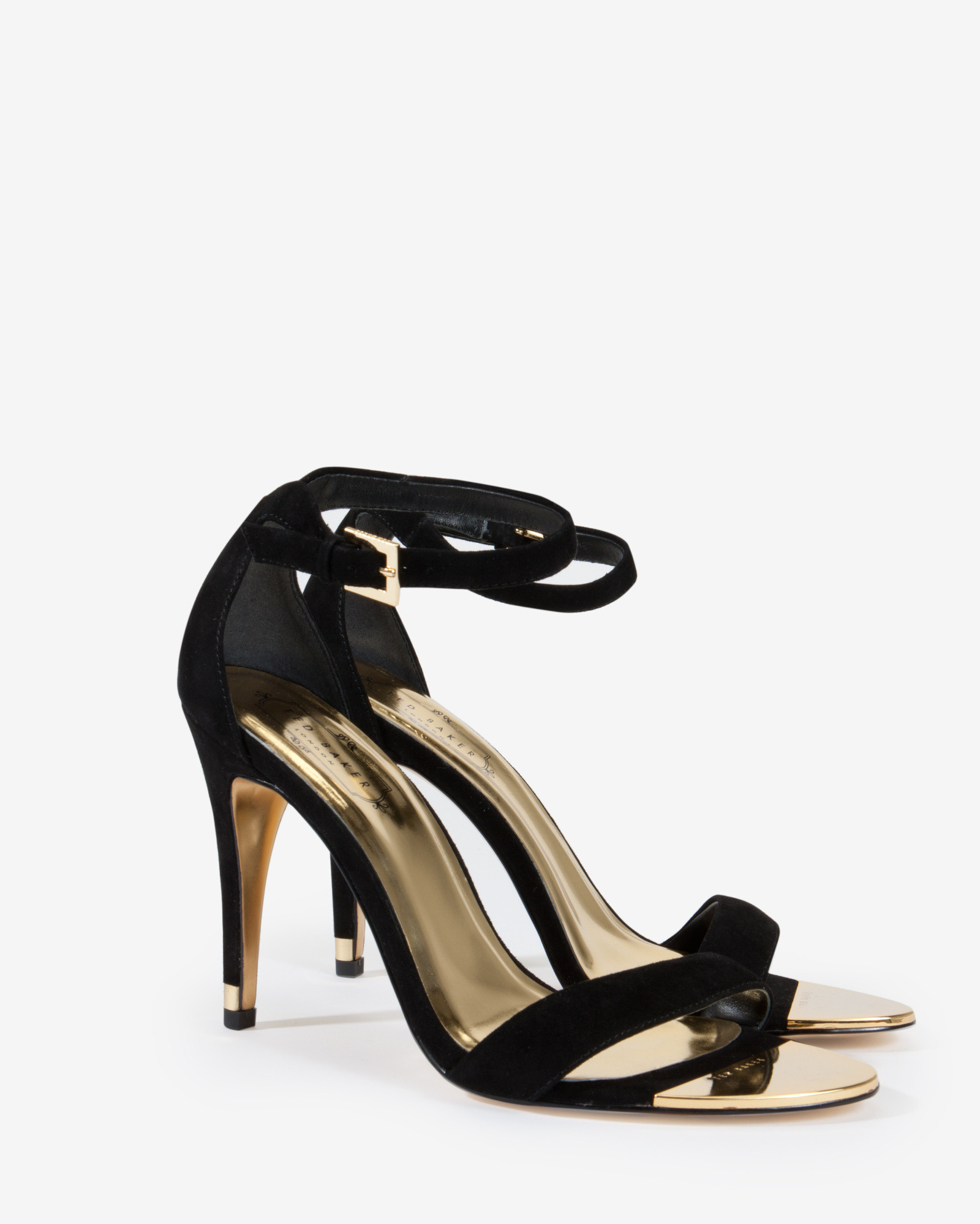 Lyst - Ted Baker Suede Ankle Strap Sandals in Black