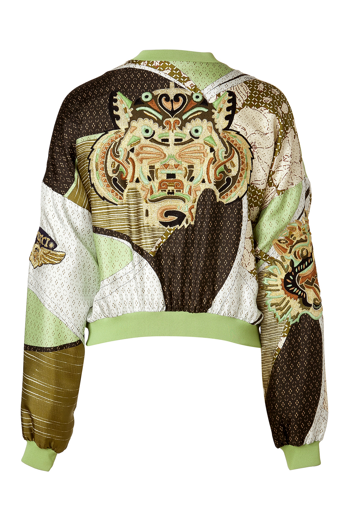 b76f65eaffd4 Lyst - Emilio Pucci Applegoldmulti Embroidered Silk Bomber Jacket in ...