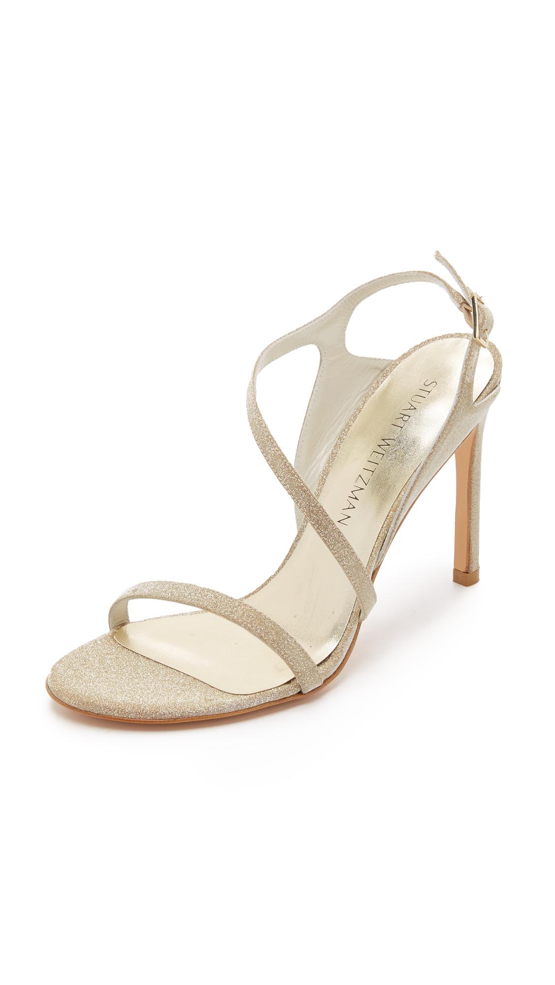 Stuart Weitzman Metallic Slingback Sandals deals online cheap sale latest G29FLl