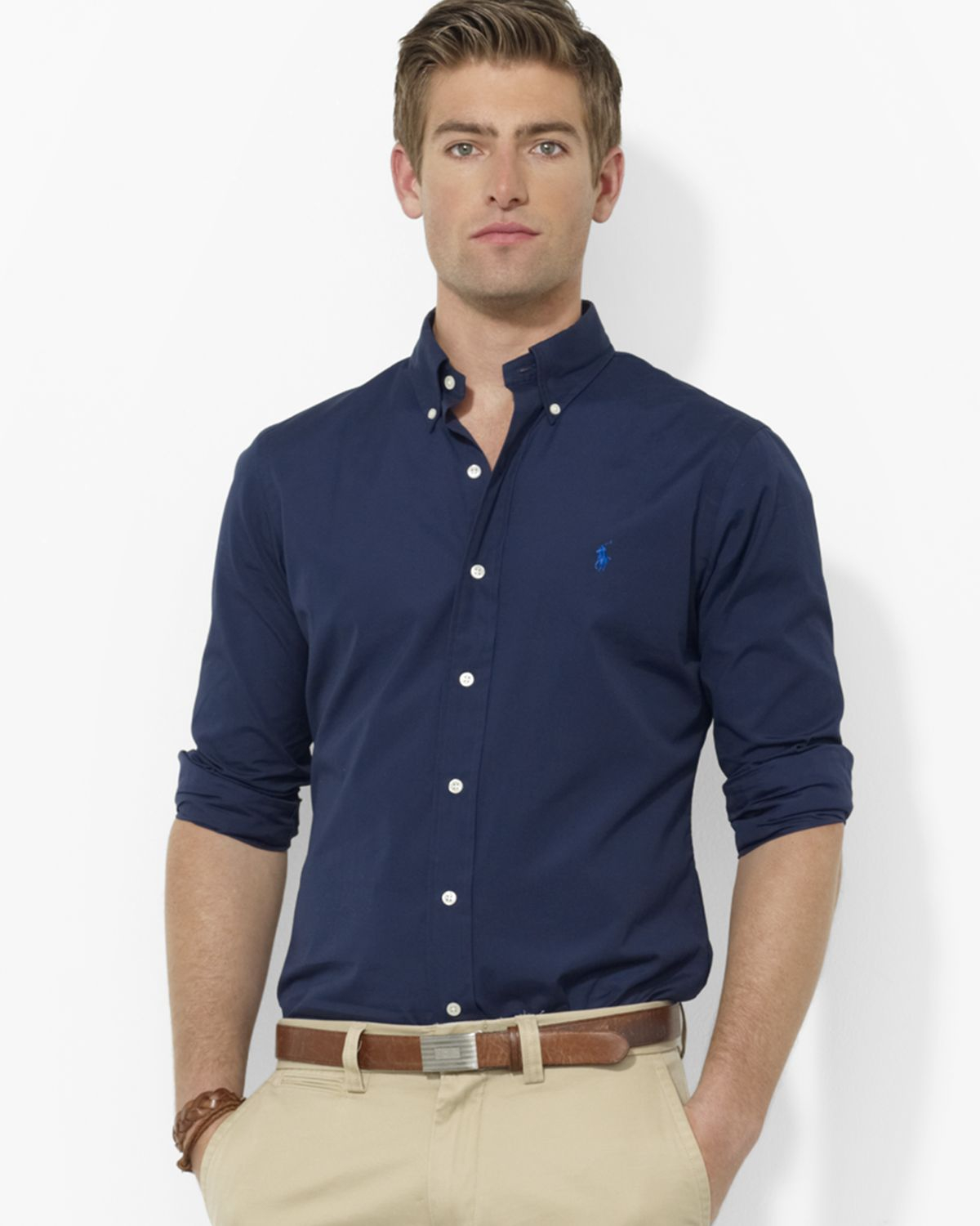 Ralph lauren Polo Custom Broadcloth Blake Button Down Shirt - Slim ...