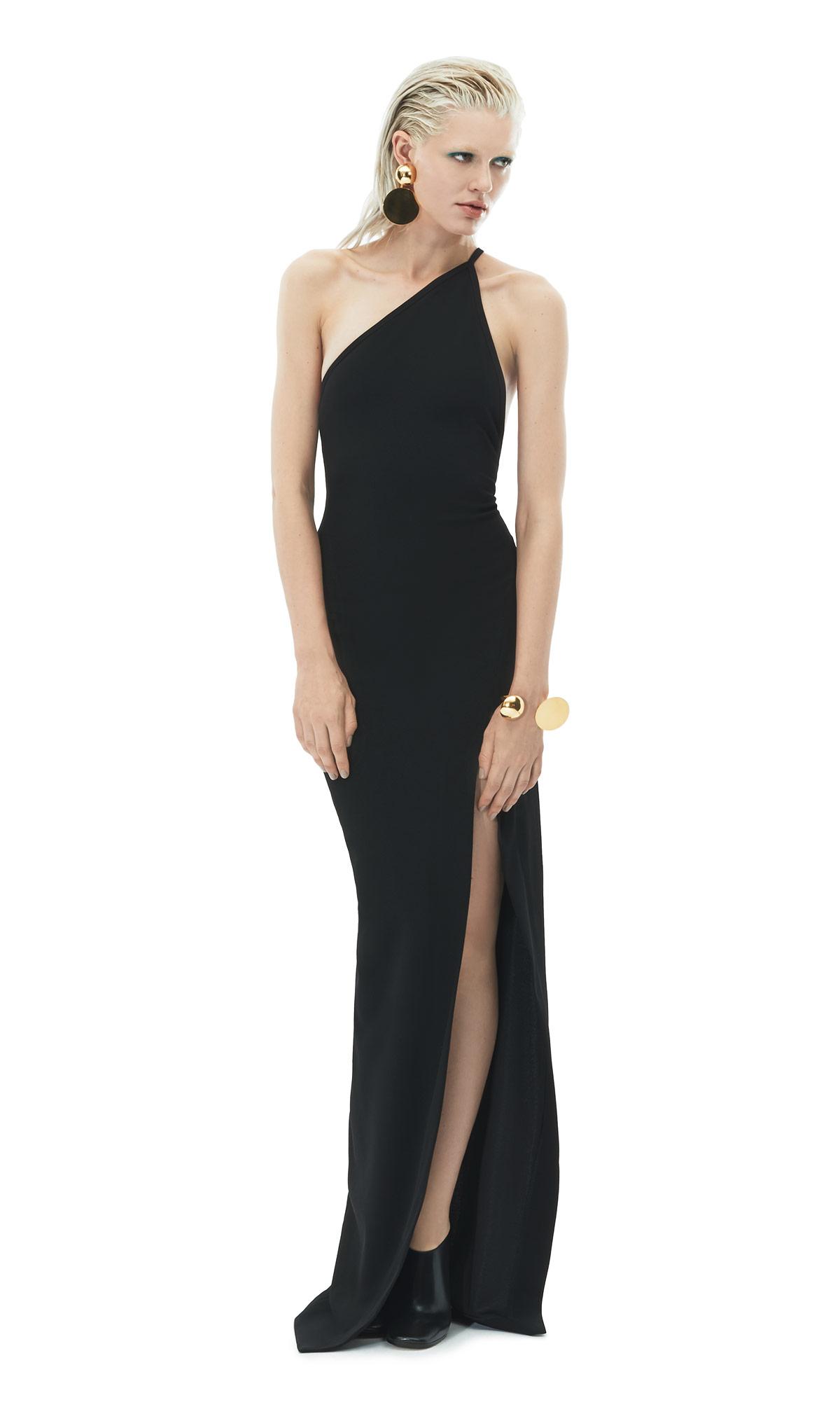 59674e6e664 Solace London Petch One-Shoulder Crepe Maxi Dress in Black - Lyst