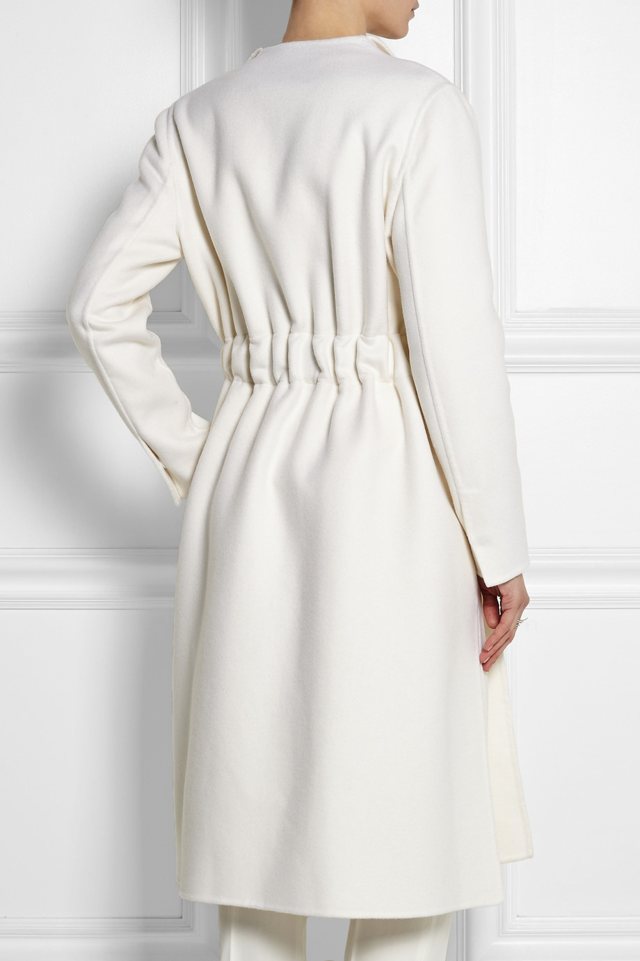 Fendi Cashmere Coat in White | Lyst
