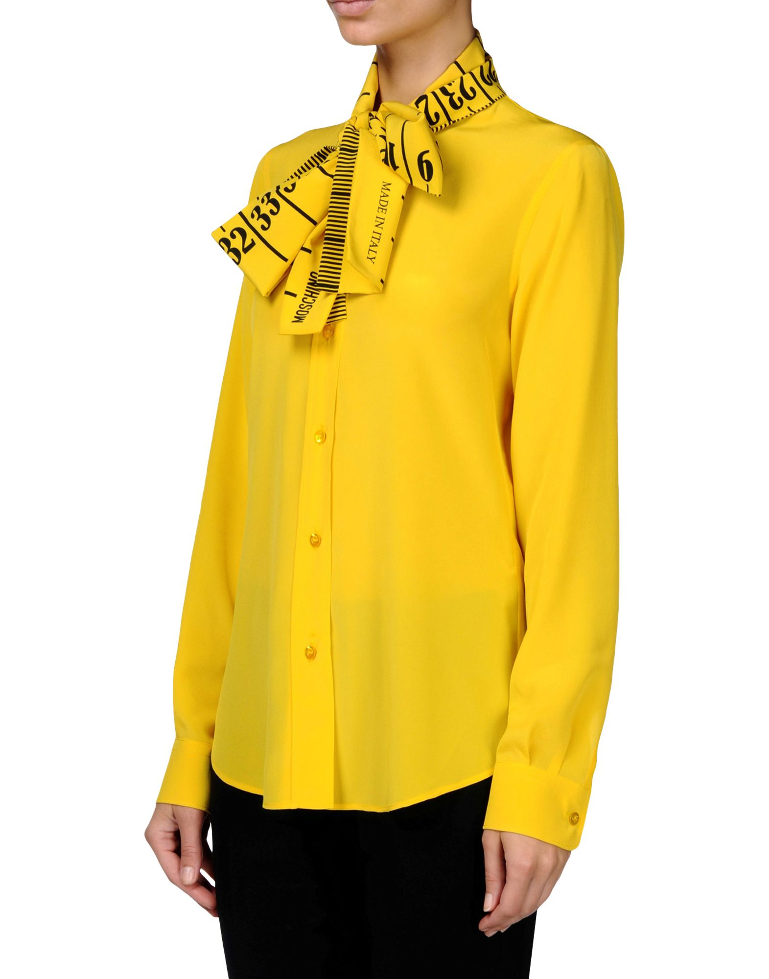 Moschino Long Sleeve Shirt In Yellow Lyst