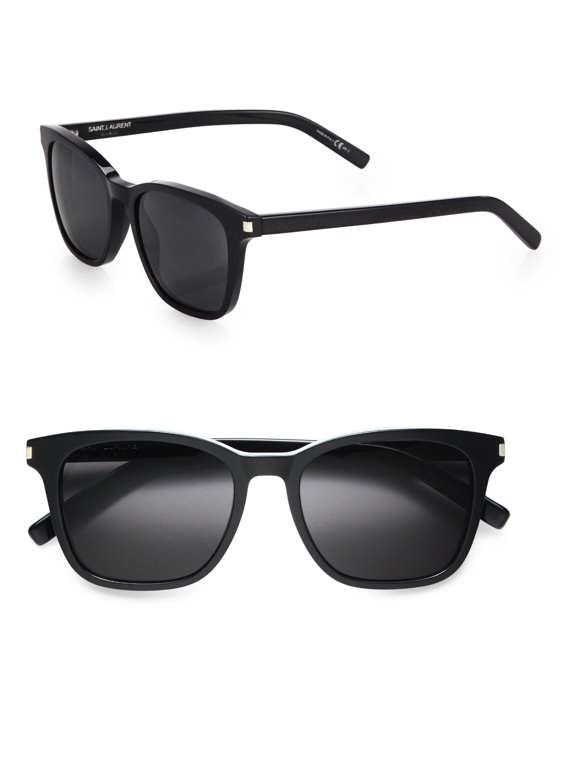 latest wayfarer sunglasses  Saint laurent Acetate Wayfarer Sunglasses in Black for Men
