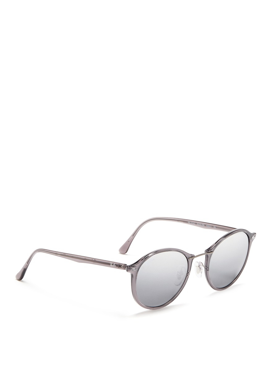 e7194544d9a Lyst - Ray-Ban  rb4242 Light Ray  Titanium Temple Round Sunglasses ...