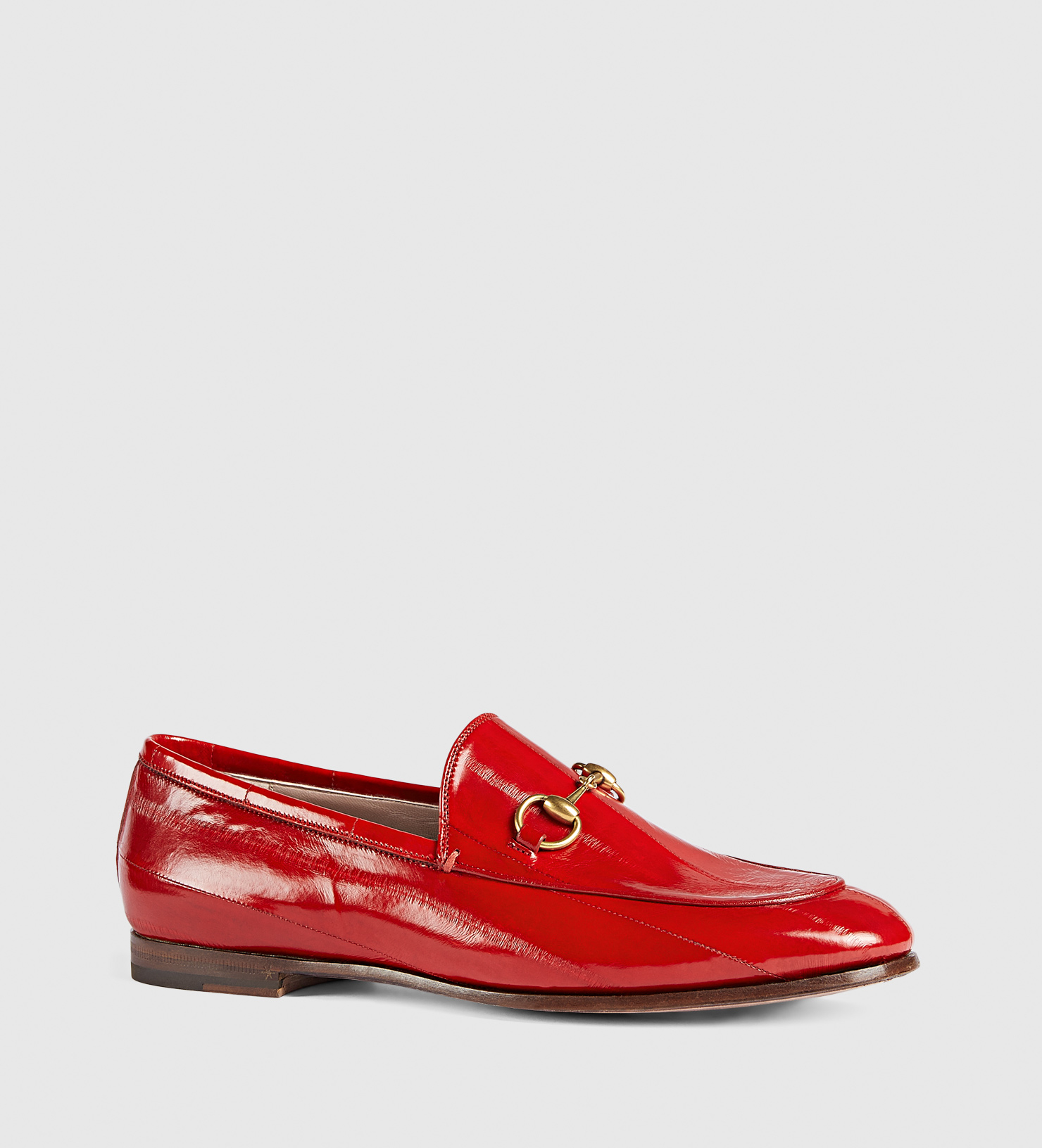 3a0622d61e8 Lyst - Gucci Jordaan Eel Loafer in Red
