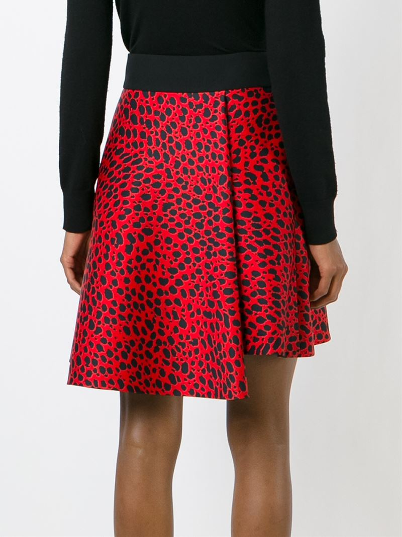 fausto puglisi leopard print skirt in blue lyst