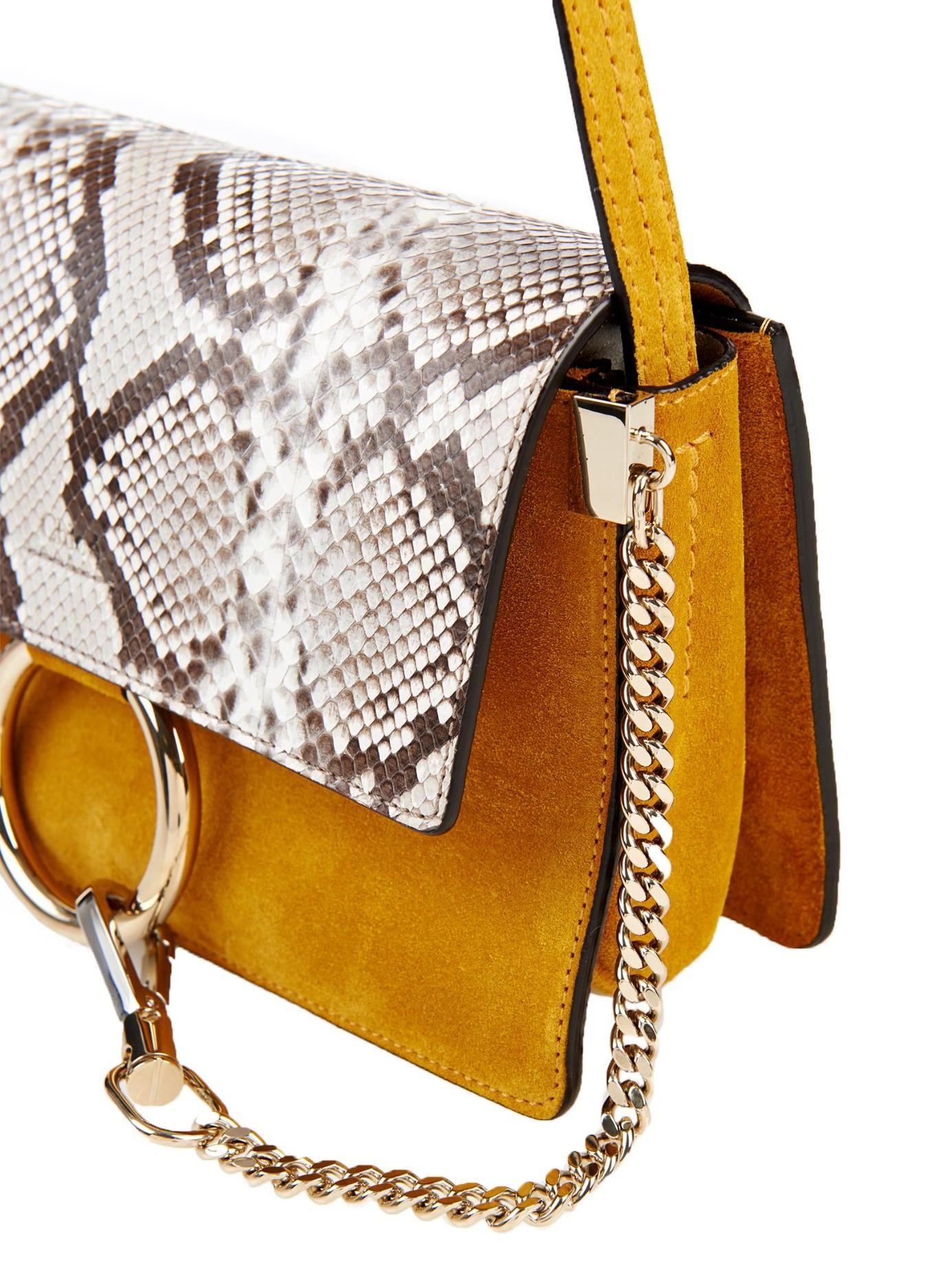 a3192f3613428 replica chloe purse - Chlo¨¦ Faye Small Python and Suede Cross-Body Bag
