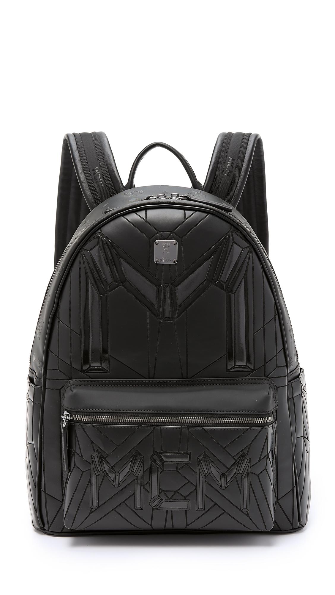 Lyst Mcm Bionic Backpack In Black For Men