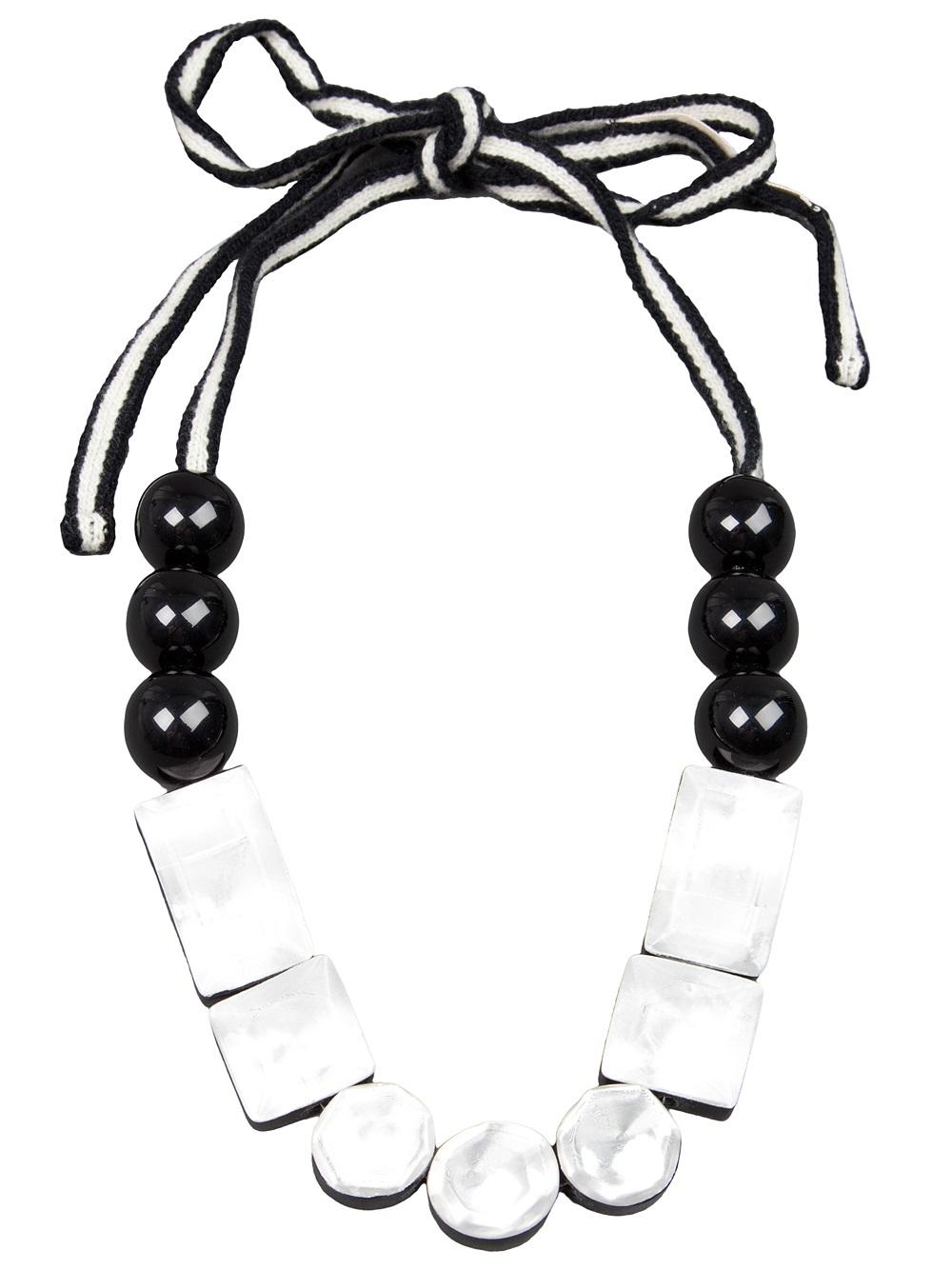 Marni silk resin pendant necklaces - Black arEAZ