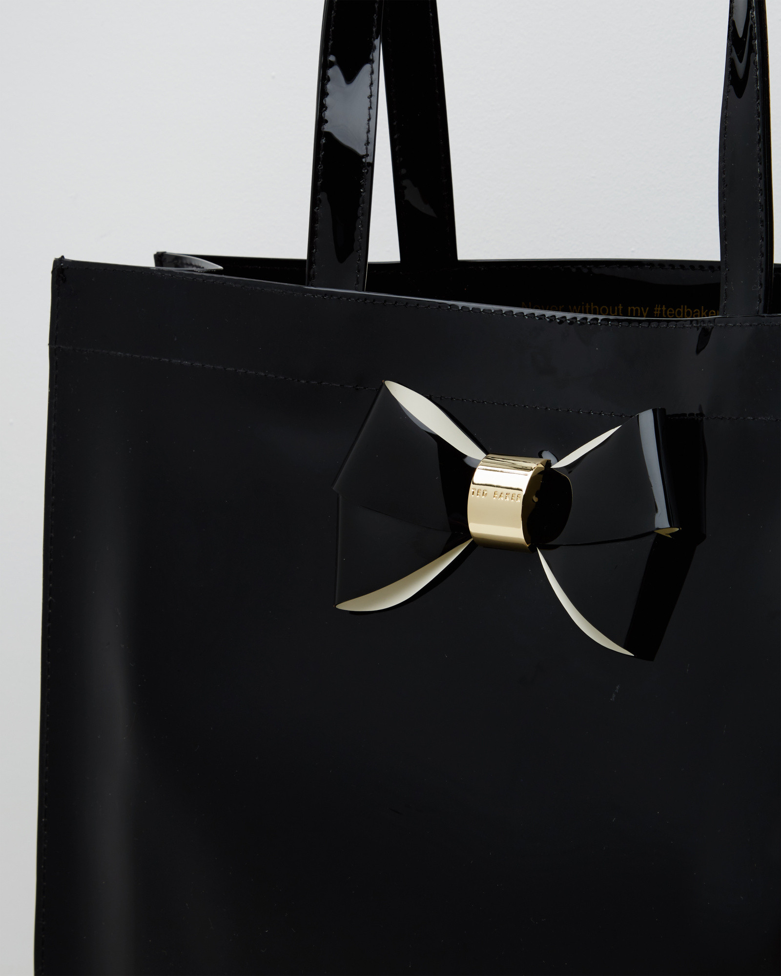 f5717a7b557f Lyst - Ted Baker Bow Detail Large Shopper Bag in Black