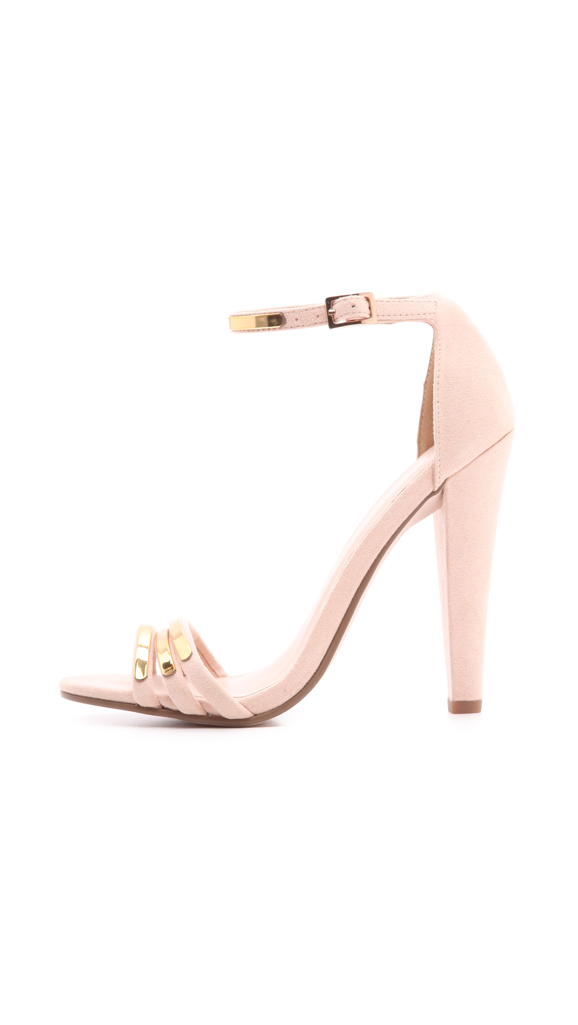 ebony metallic high heel sandals from MISS KG | Sandals