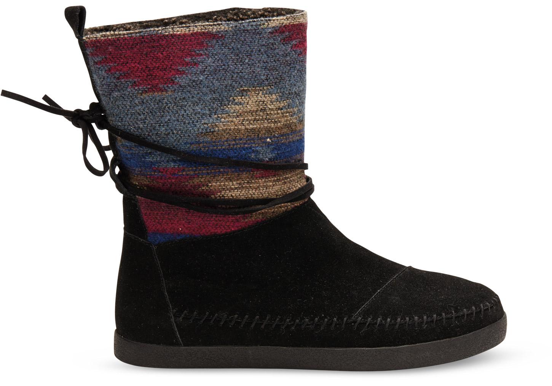 toms black wool s nepal boots in black lyst