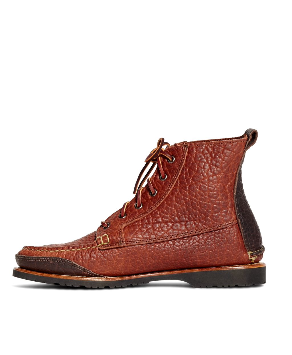 cf19f3b069cbb Brooks Brothers Rugged Leather Boots in Brown for Men - Lyst