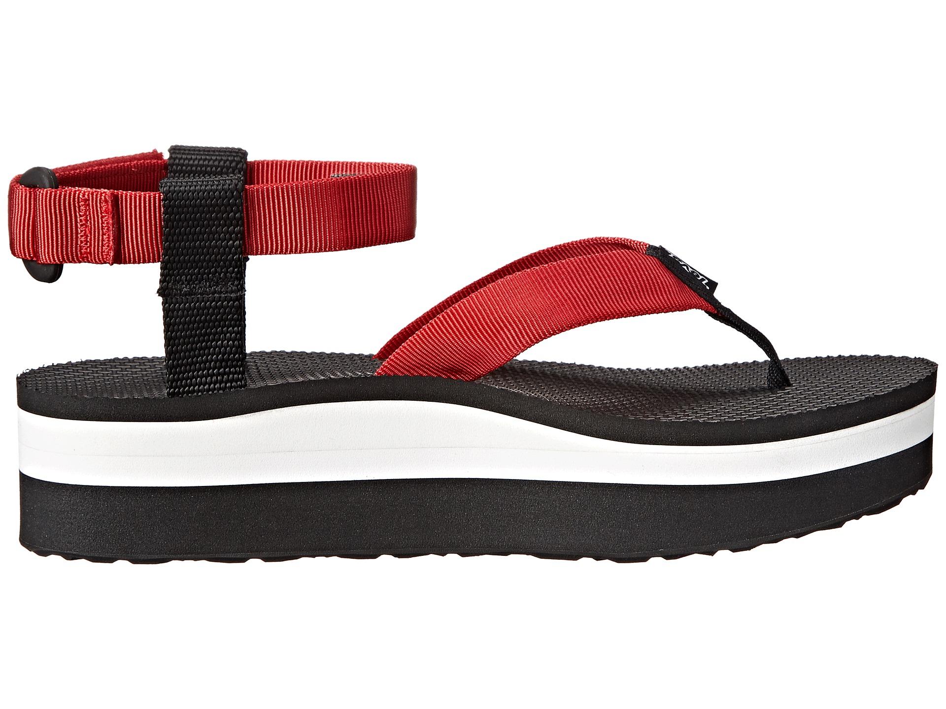 Lyst Teva Flatform Sandal In Red