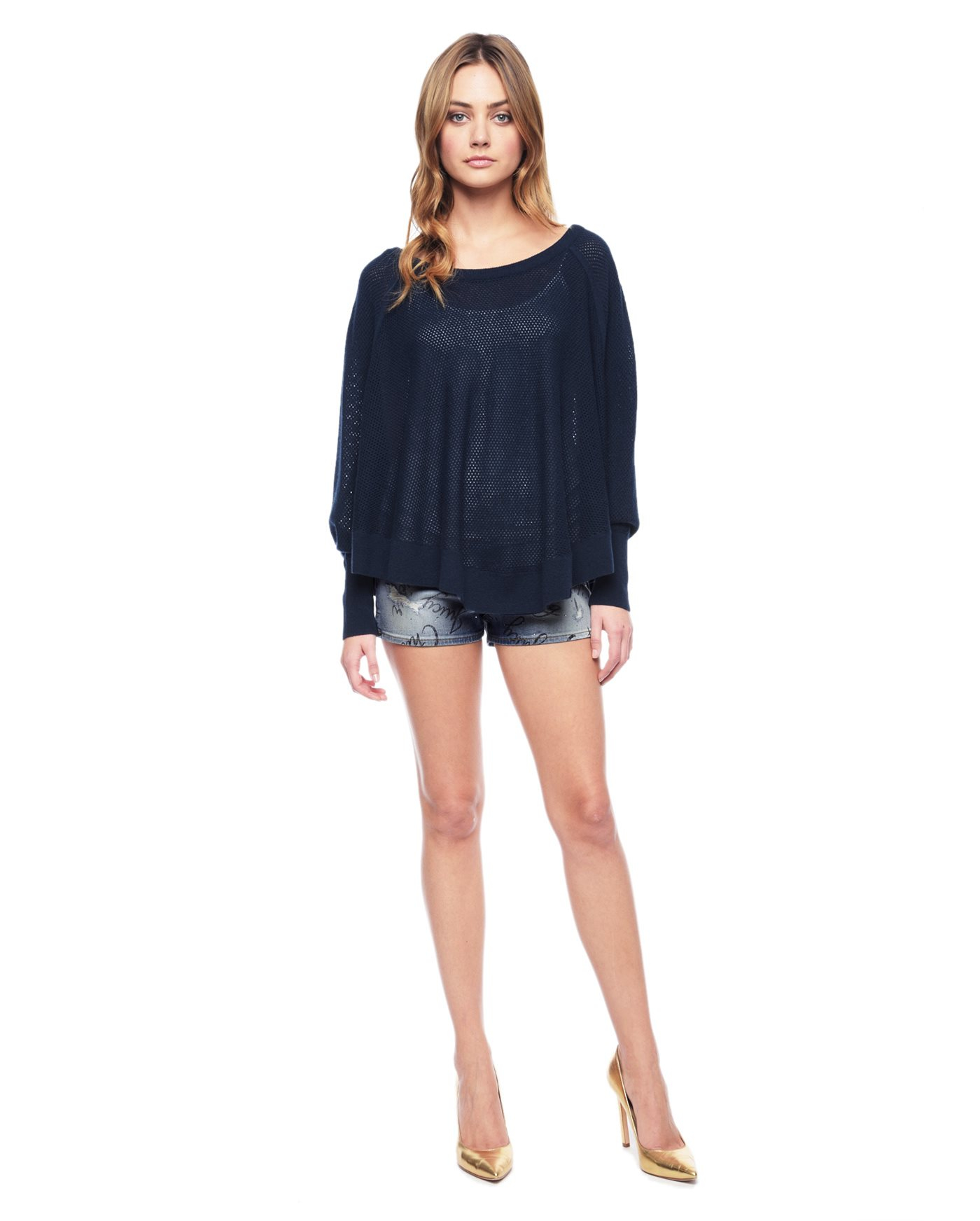 Juicy couture windswept words denim shorts in blue lyst for Couture a wod