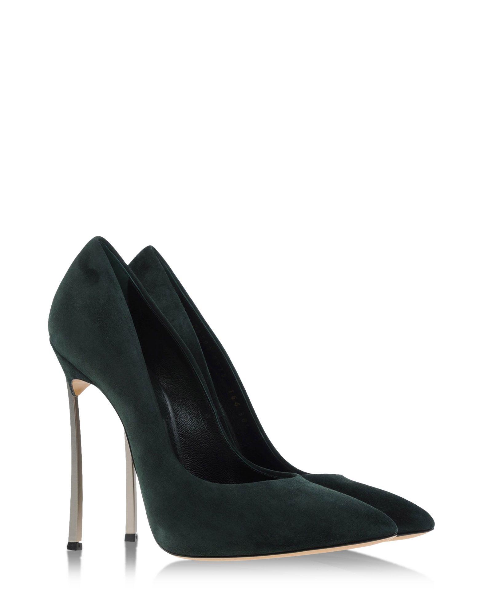 Casadei Closed Toe Slip Ons In Green Dark Green Lyst