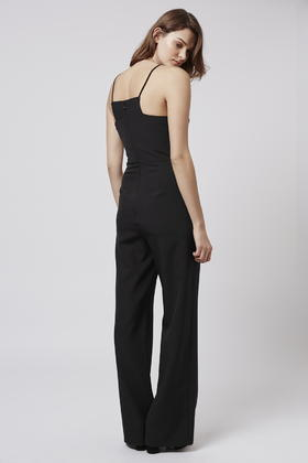 40e4eea6c7f Lyst - TOPSHOP Tall High-neck Jumpsuit in Black