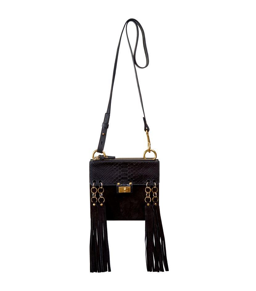 Chlo�� Small Jane Python Cross Body Bag in Black | Lyst