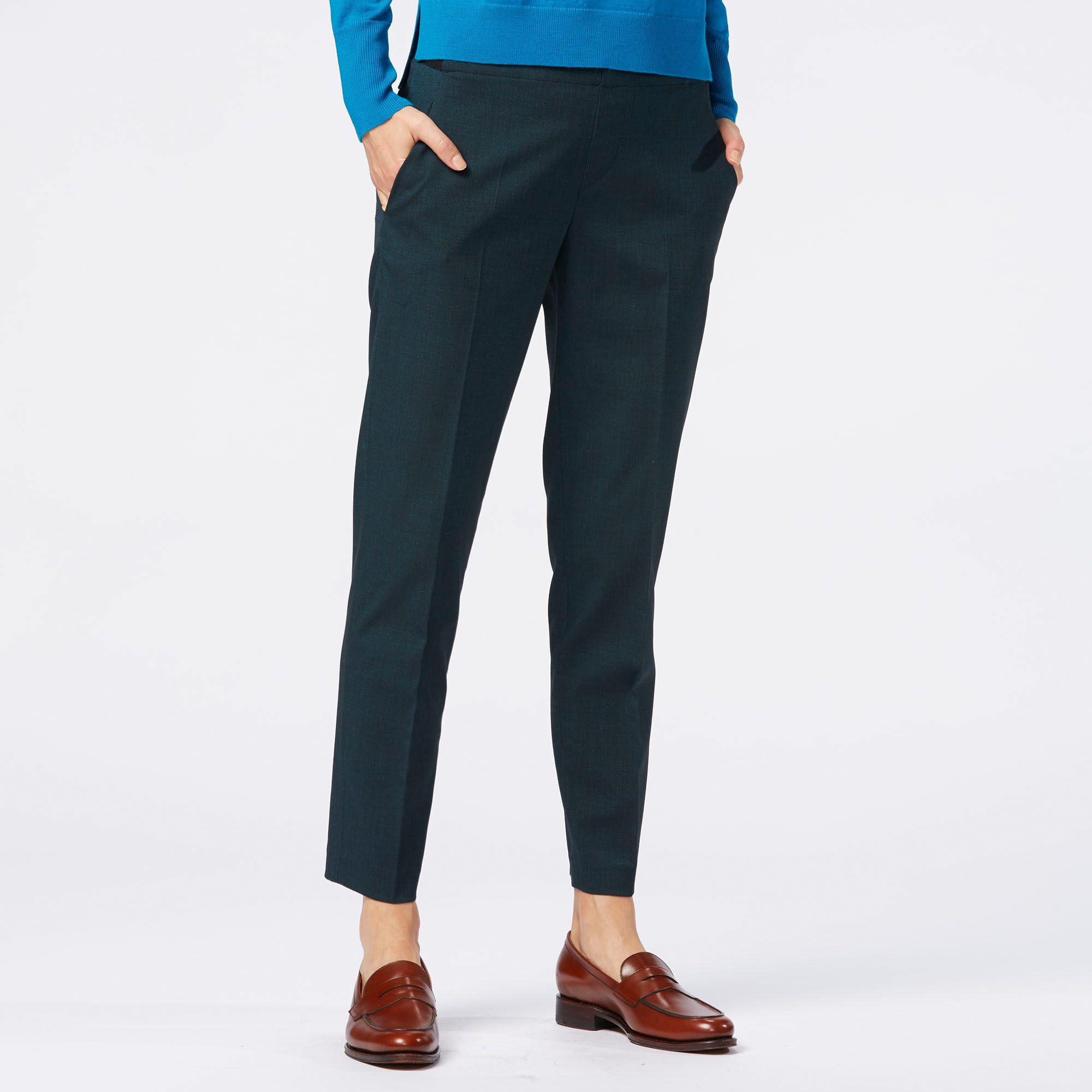 Perfect Uniqlo Women Drape Pants In Blue | Lyst