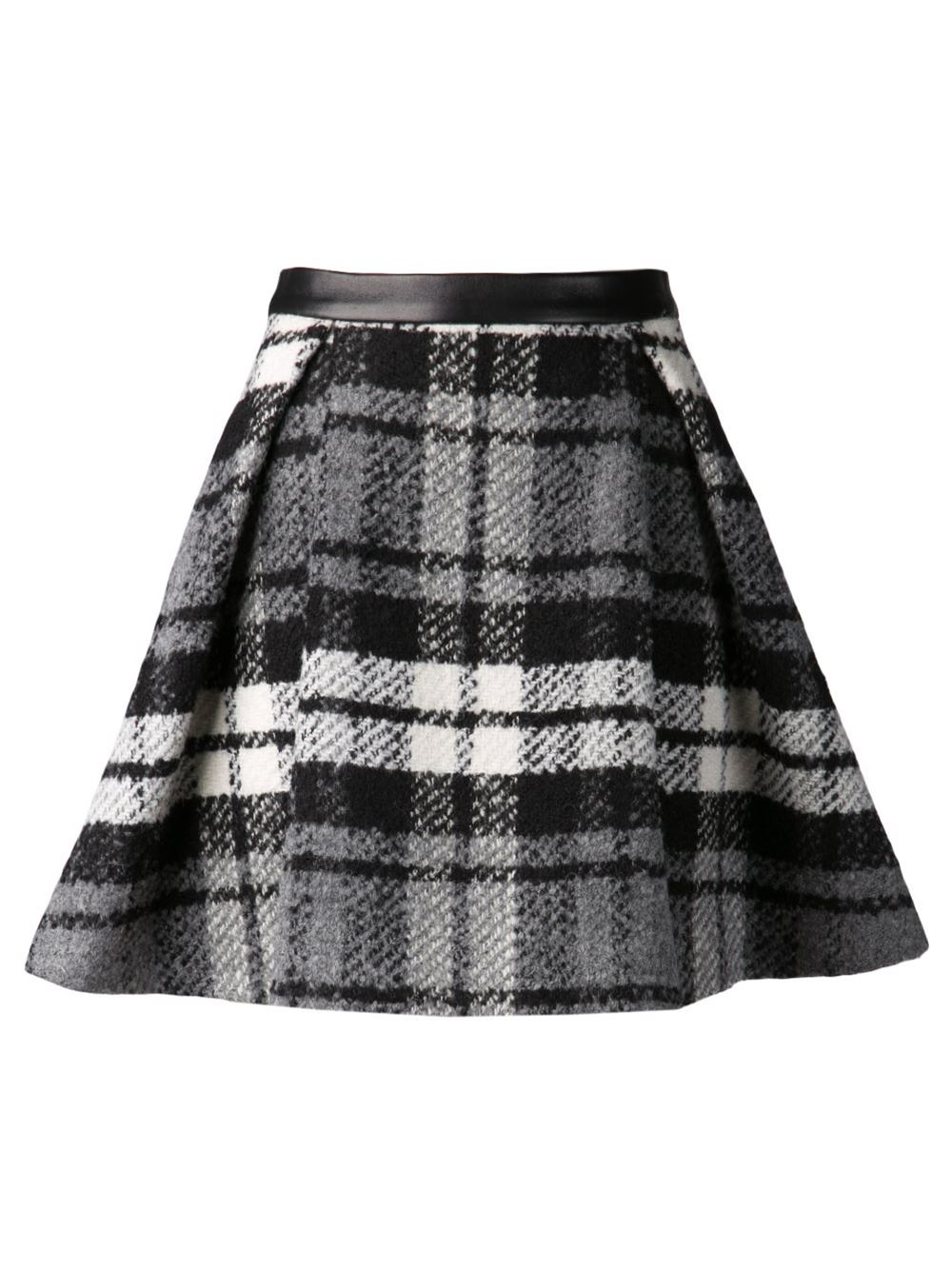 Drome Plaid Skirt in Black | Lyst