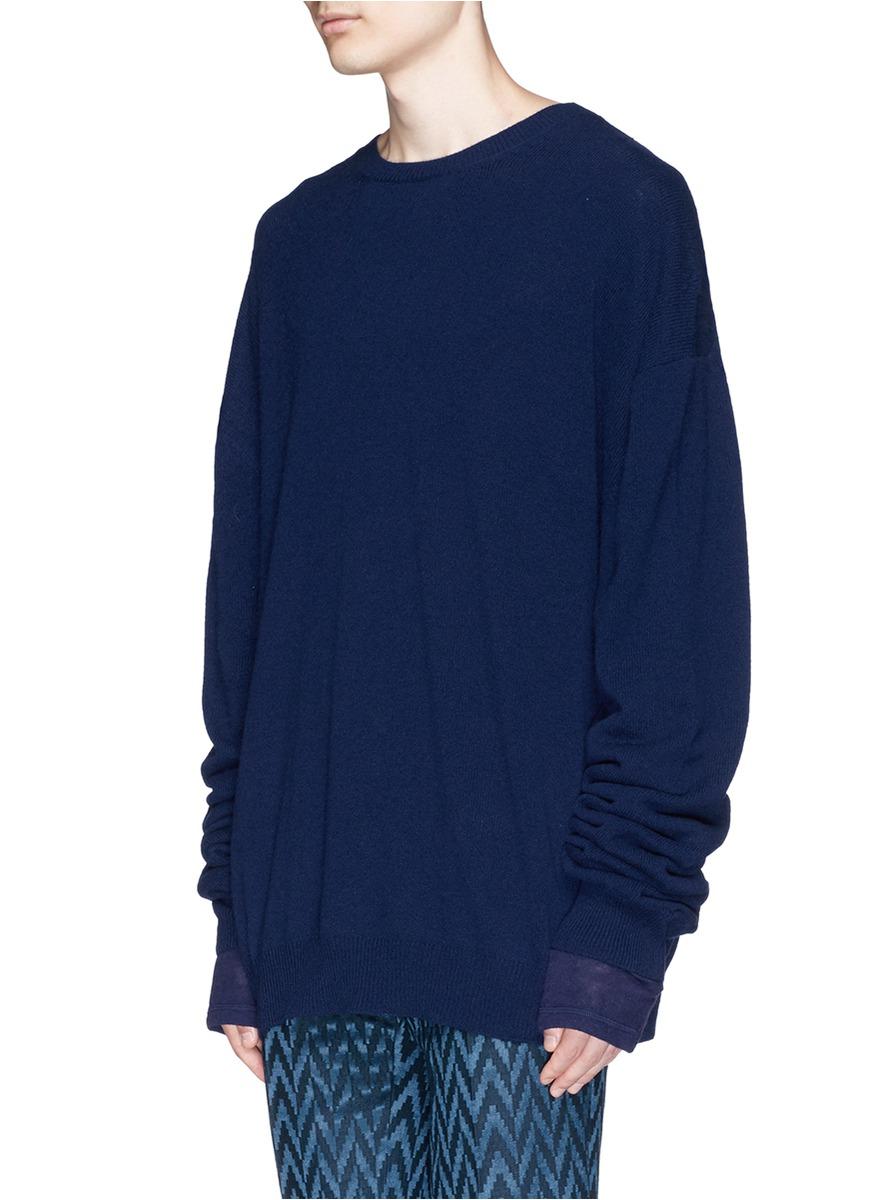 haider ackermann silk sleeve underlay fleece wool cashmere. Black Bedroom Furniture Sets. Home Design Ideas