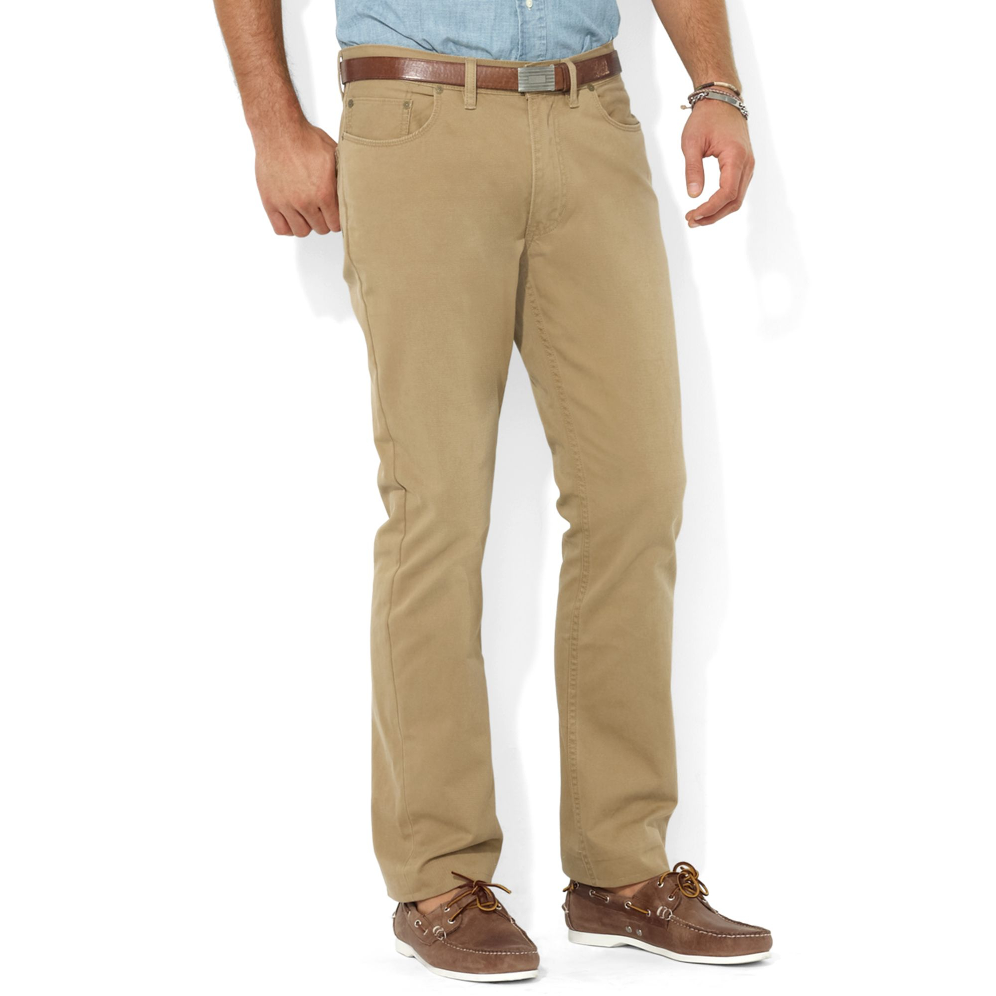 0c17ae25ede2 ... men sport suit jacketpants. cdc50 0f738  order lyst ralph lauren polo  classicfit flatfront chino pants in natural a0ea0 caf07