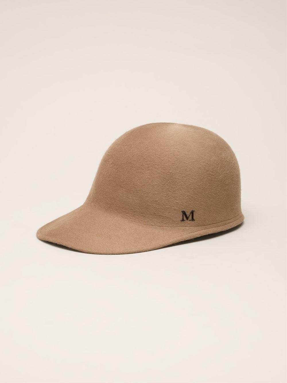 Maison michel 39 josh 39 hat in brown lyst for Maison michel