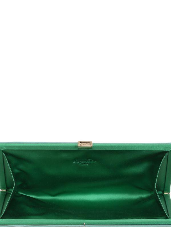 c189f989ab73 Lyst - Roger Vivier Pilgrim Swarovski   Silk Satin Clutch in Green
