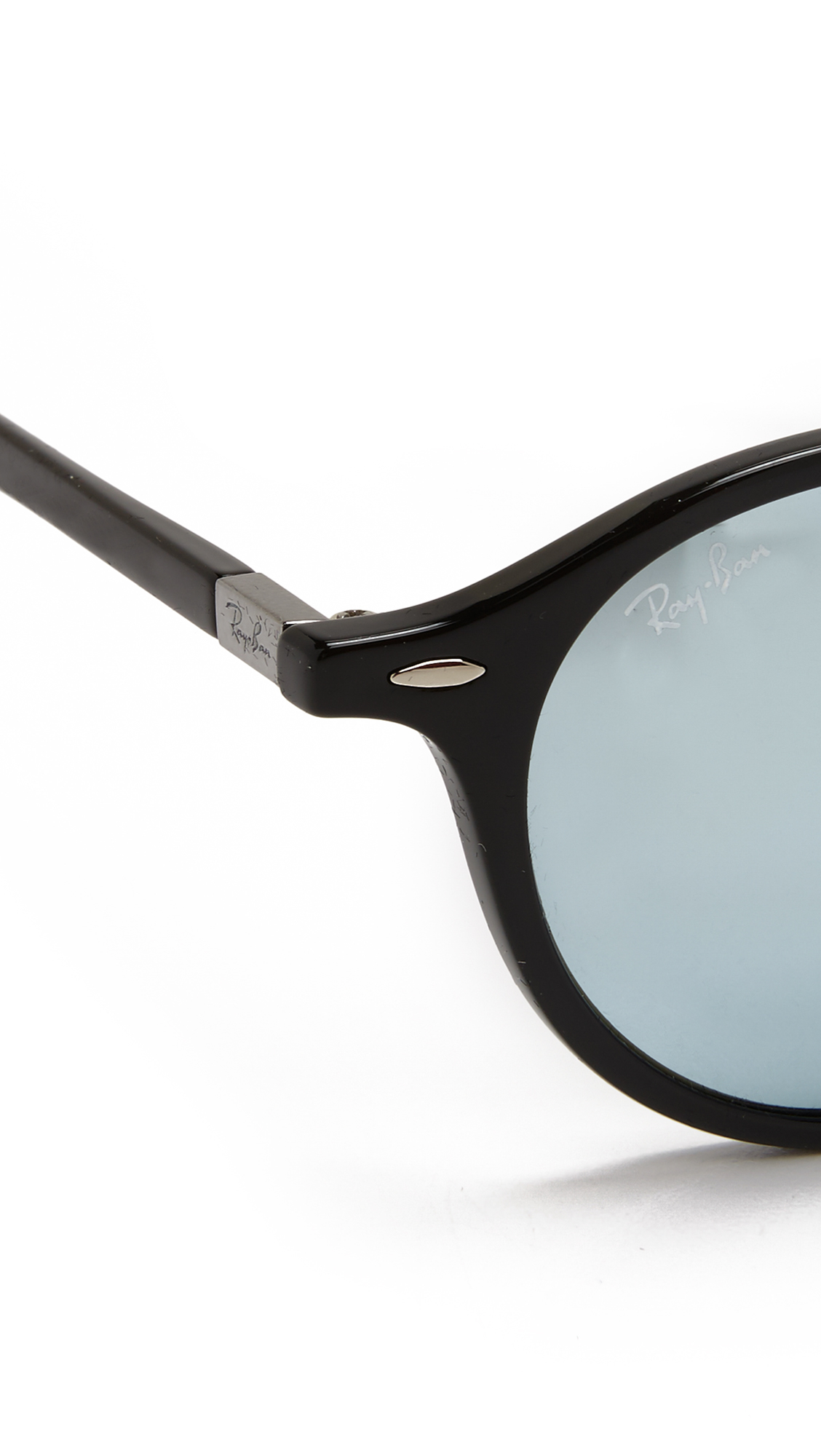 2308eed46e6 Lyst - Ray-Ban Full Fit Round Sunglasses in Black for Men
