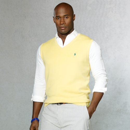 Polo ralph lauren Pima Cotton V-neck Vest in Yellow for Men | Lyst