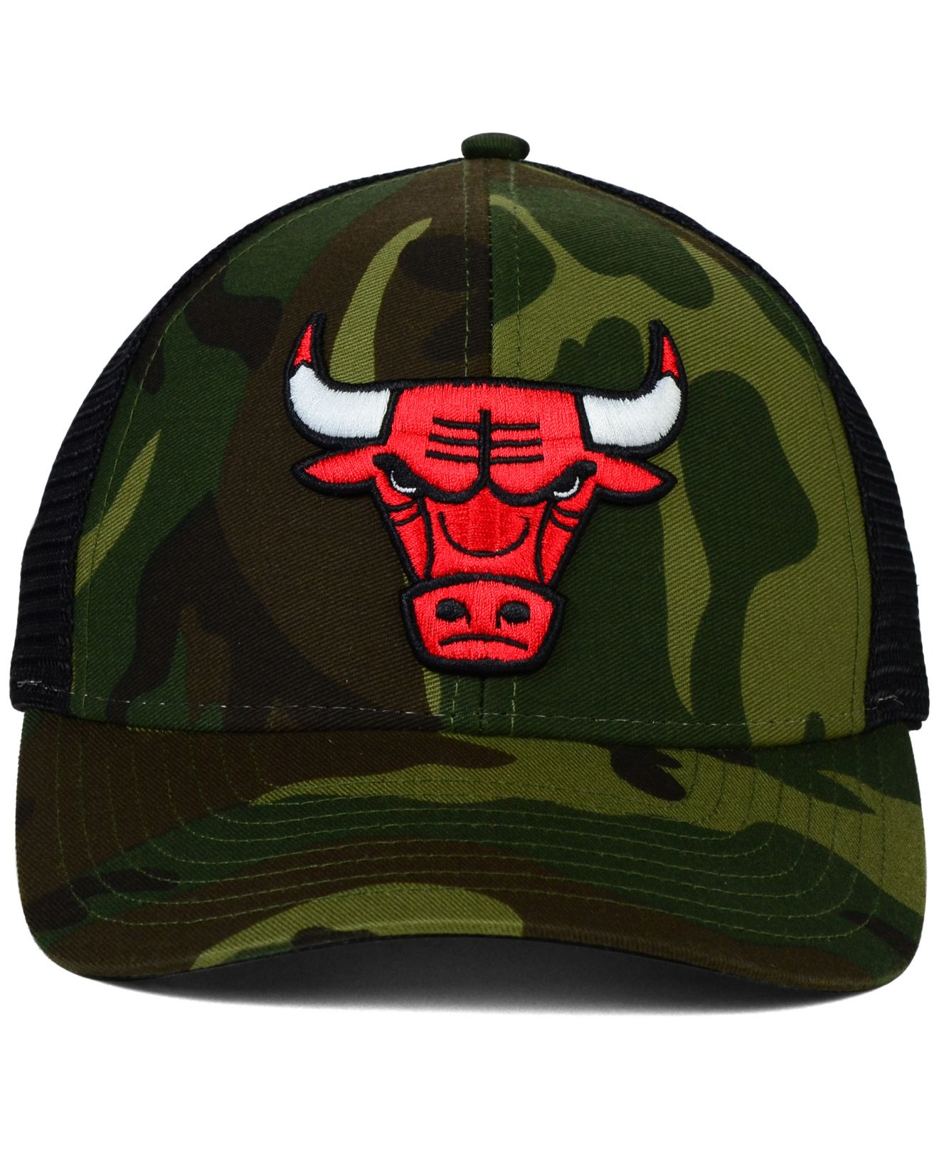 Lyst - adidas Chicago Bulls Camo Trucker Cap in Green for Men fd9ca35e9bc