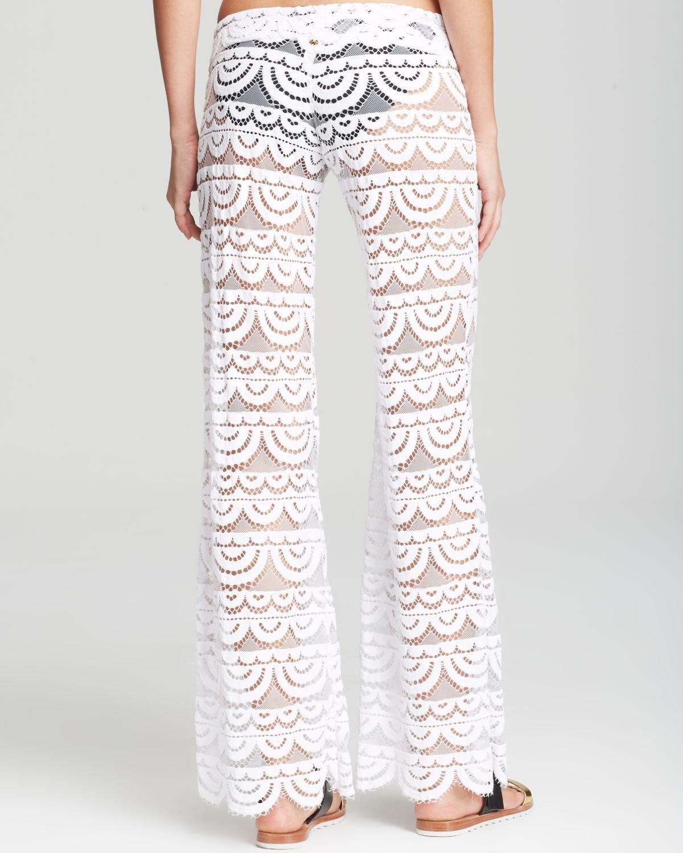 b7746adc68 Pilyq Malibu Lace Crochet Pants Swim Cover Up in White - Lyst