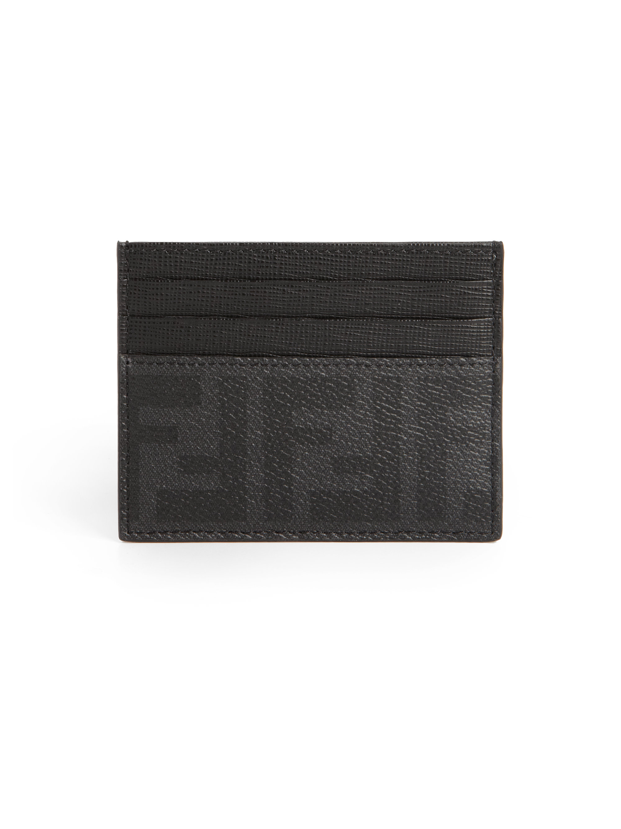 Black card holder Fendi Collections Sale Online Low Price Cheap Sale Supply WslzLkgd