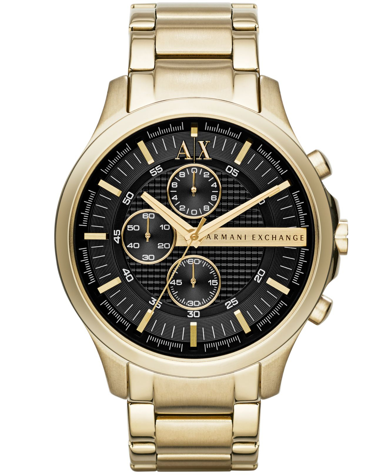 armani exchange a x s gold tone stainless steel
