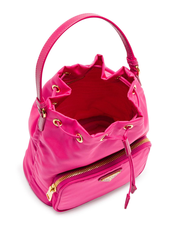 4cf71702b5e06a Prada Tessuto Mini Bucket Crossbody Bag in Purple - Lyst