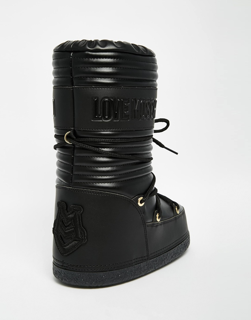 Moschino Bottes De Motard Noir Clouté - 2vSwGZ