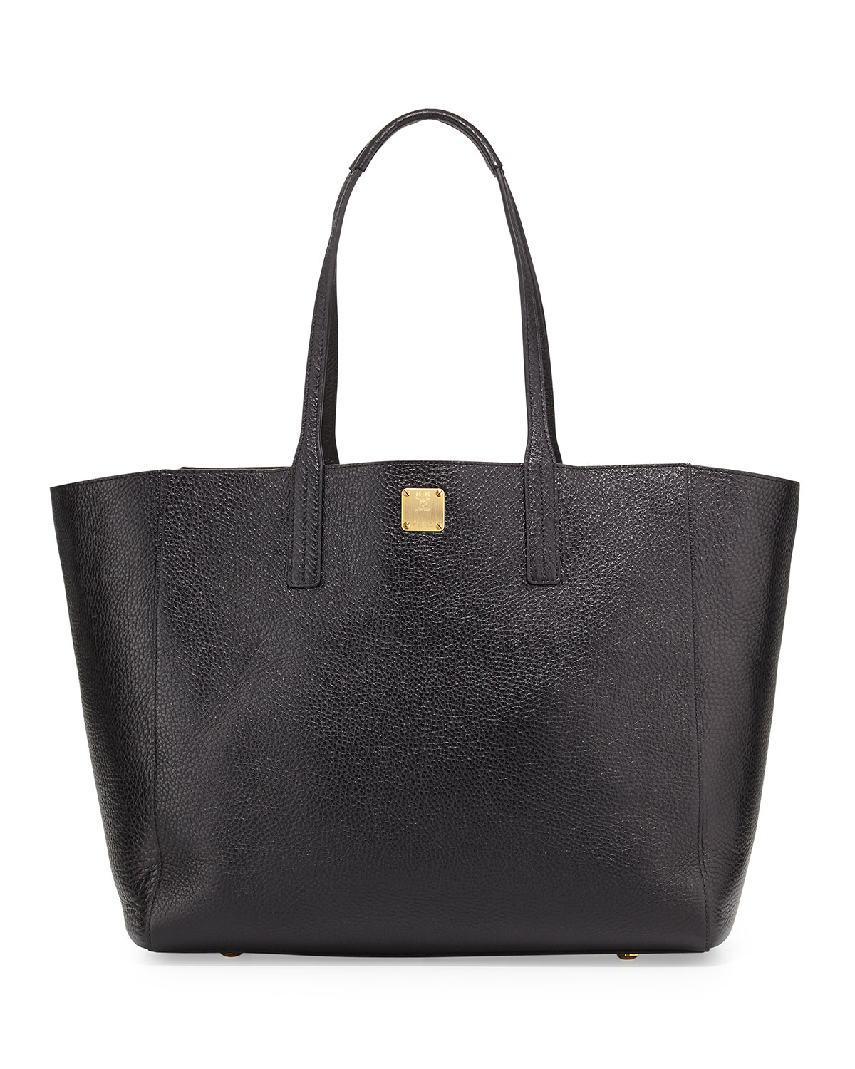 Mcm Shopper Project Reversible Leather Tote Bag in Black ...