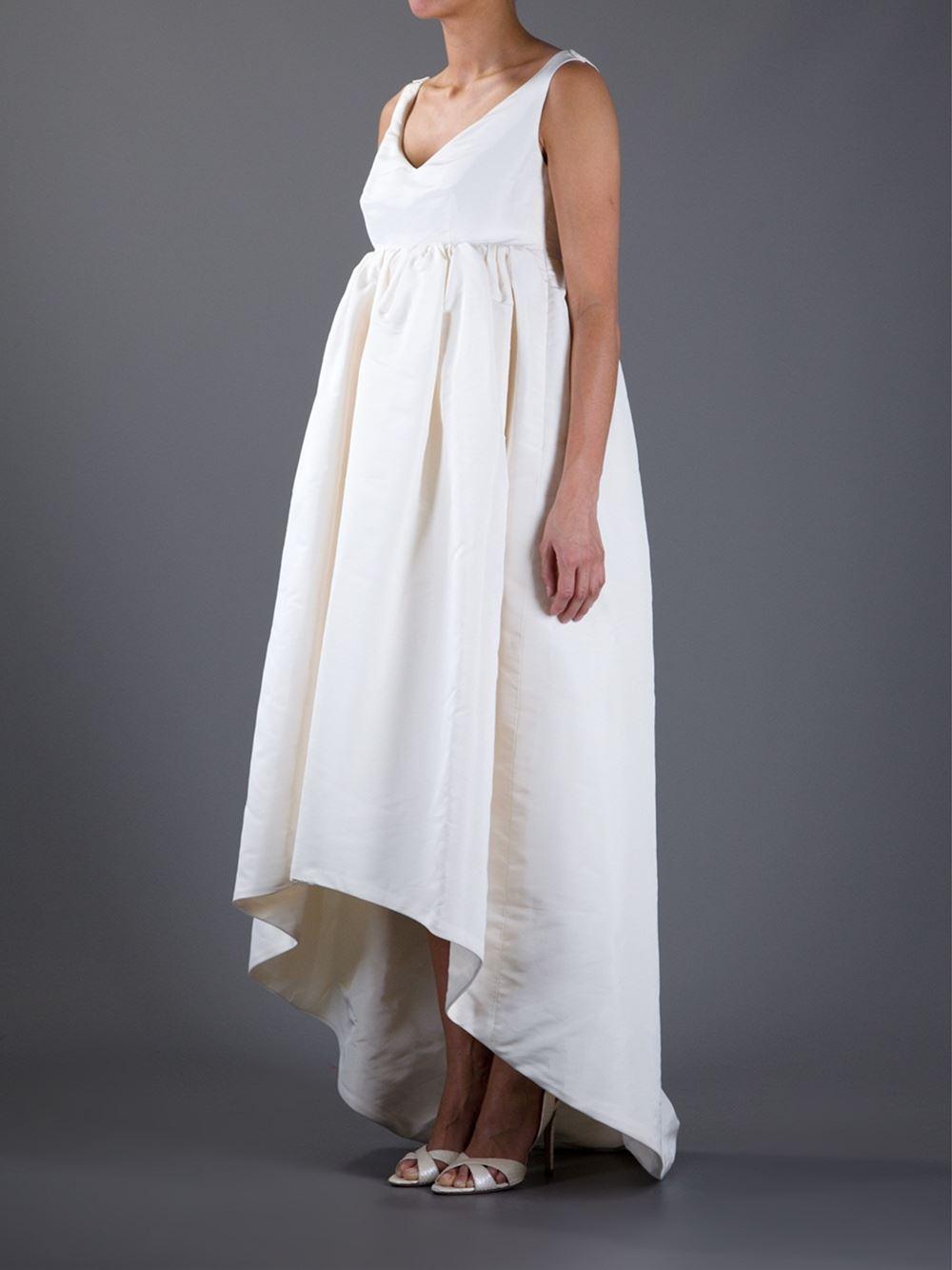Balenciaga Bridal Dress In White Lyst