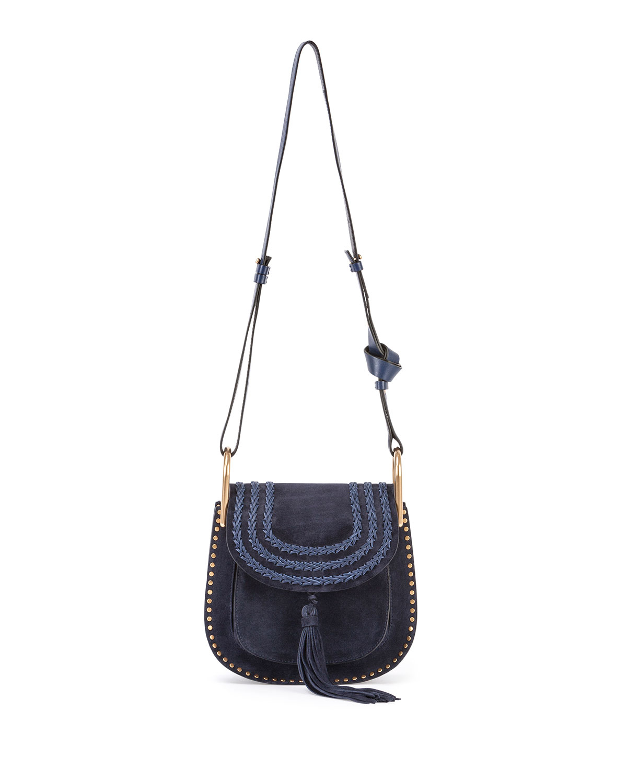 Chlo�� Hudson Suede Cross-body Bag in Blue (NAVY) | Lyst