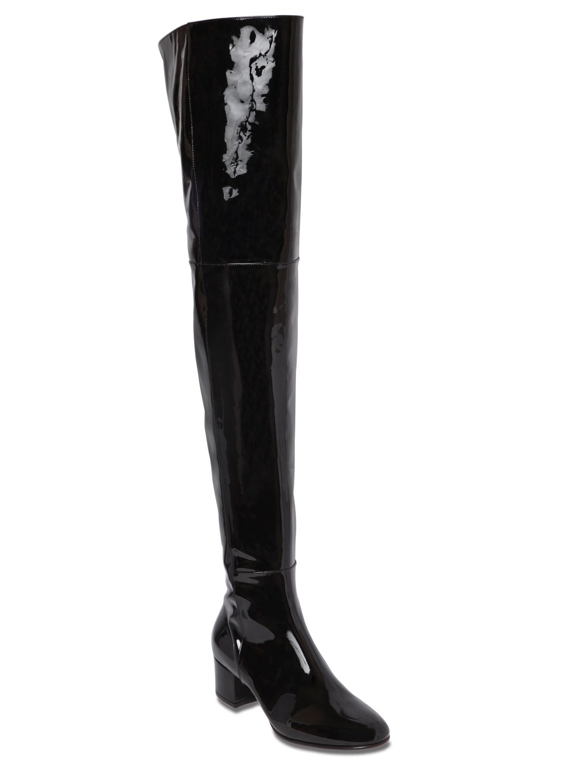 Gianvito rossi 45mm Patent Leather Over The Knee Boots in Black | Lyst